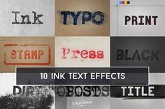 Ink Text Effect Mockup from DesignBundles.net