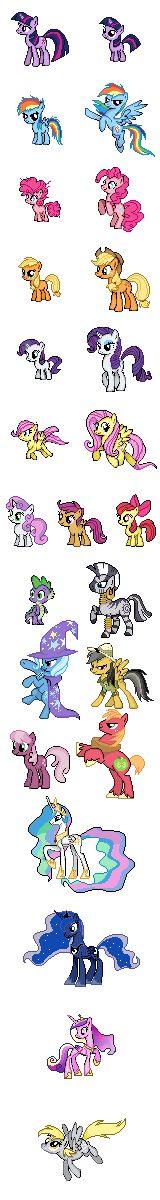 My Little Pony Sprites Series by Kevfin.deviantart.com on @deviantART