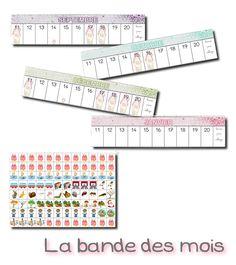La maternelle de Laurène: La bande des mois