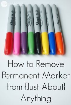 Try these simple solutions for removing permanent marker from any surface!