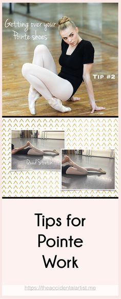 Improve your pointe work by stretching! The first stretch may seem unrelated to pointe work. However, when I see a dancer with knees that appear slightly bent, I check her for tight quadriceps first. via @The Accidental Artist