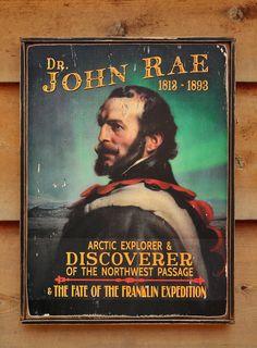 NEW Vintage wooden sign ' John Rae ' original design by VASSdesign