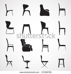 Luxury, office, interior and plastic chairs - vector illustration ...