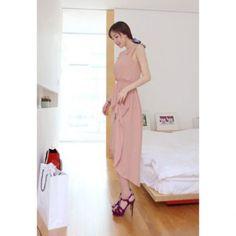 Sleeveless Solid Color High-low Hem Elegant Women's Dress, PINK, ONE SIZE in Casual Dresses | DressLily.com