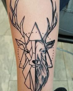 My deer tattoo in a classic and graphic way.