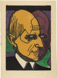 Ernst Ludwig Kirchner (German, 1880–1938)  Head of Dr. Bauer (Kopf Dr. Bauer)