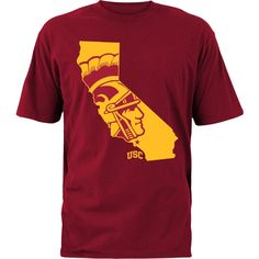 USC fans don't need a t-shirt to let opponents know the Trojans run California. #gameday #tailgate