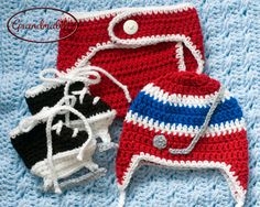 be96437a763 Items similar to BABY HOCKEY CROCHET Baby Boy Clothes