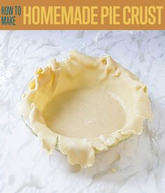 Want to know how to make pie crust? If you're looking for the best pie crust recipe, you're in luck. Here's a detailed tutorial on how to make pie crust from scratch. Start baking any pie you want after making this homemade pie crust! Best Pie Crust Recipe, Easy Pie Crust, Homemade Pie Crusts, Pie Crust Recipes, How To Make Pie, Food To Make, Homemade Desserts, Dessert Recipes, Triple Berry Pie
