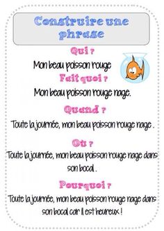 La construction d'une phrase