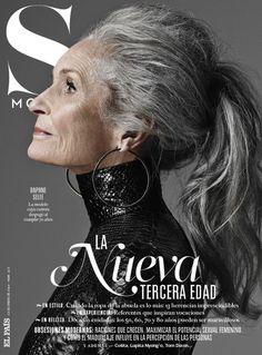 Una modelo estupenda que tiene 86 años: Daphne Selfe, cuya carrera como modelo despegó a los 70 años.