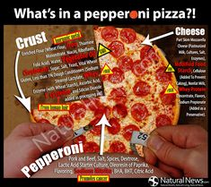 What's in a Pepperoni Pizza?! http://www.naturalnews.com/Infographic-Ingredients-Pepperoni-Pizza.html