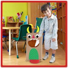 Mantengamos limpio el salón de clases. Con ayuda de #Pritt, hagamos un monstruo come basura. ¡Comparte la manualidad! ¿Qué necesitas? Lápiz adhesivo marca Pritt, una bolsa de papel de estraza grande, un bote de basura, hojas de colores, tijeras y un plumón negro. #Manualidades #DIY #Crafting #Pritt #Escuela #Niños #Pegamento #Maestros