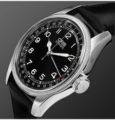 <a href='http://www.mrporter.com/en-gb/mens/designers/Oris'>Oris</a> takes its name from a brook and valley close to the picturesque village of Hölstein in Switzerland, where the brand has been manufacturing watches for the past 100 years. The epitome of style and sophistication, this 'Big Crown' timepiece is equipped with an automatic pointer calendar movement - first launched in 1938, it's an enduring symbol of the labe...
