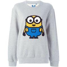 Steve J & Yoni P Minion patch sweatshirt found on Polyvore