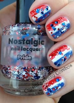 Crystal's Crazy Combos: Fourth of July Nails with Nostalgic Nail Lacquer Pride - I wanted this polish SO BAD but couldn't get my hands on it.