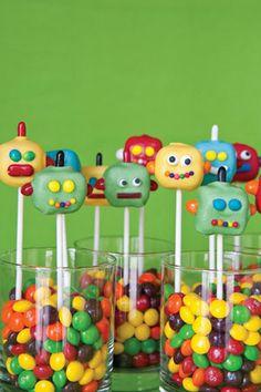 homemade robot cake pops