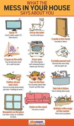 What the mess in your house says about you.