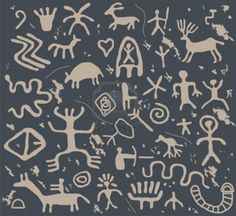 Image Detail for - Ancient Petroglyphs Royalty Free Cliparts, Vectors, And Stock ...