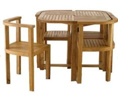 HANDCRAFTED WOODEN DINING TABLE SET\