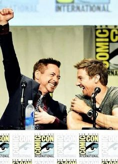 With Jeremy Renner San Diego comic-con 2014