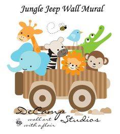 Jungle Safari Wall Murals for baby& nursery or young child& room. Choose from a variety of Jungle Safari Wall Mural designs and sizes. These unique, one of a kind wall murals are high quality with bright vivid colors.