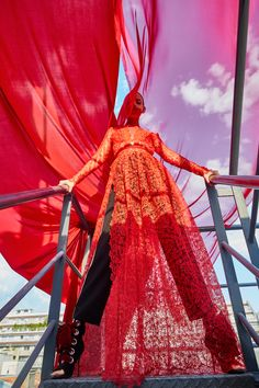 """L'Officiel """"Red October"""" on Behance #redblooded#red#woman#eyecandy"""