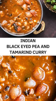 Karamani Kuzhambu - Indian black eyed peas and Tamarind curry with shallots garlic and spices- This tangy and aromatic curry can be made in your instant pot and is usually served with rice and a side of veggies.. Protein rich and delicious, this South Indian kuzhambu is a great vegan dinner recipe! #curry #southindianfood #vegancurry #indianrecipes #instantpotvegetarian #lentilrecipes #indiancurryrecipes | cookingwithpree.com Indian Beef Recipes, Goan Recipes, Best Vegan Recipes, Lentil Recipes, Vegetarian Cooking, Vegetarian Recipes, Cooking Recipes, Best Instant Pot Recipe, Quick Weeknight Dinners