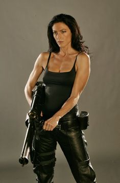 """Renegade Peacekeeper Aeryn Sun from Farscape. She had me at, """"What is your rank and regiment?"""" So far one of my favorite intro scenes for a character. #Farscape"""