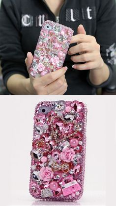 Ipod Cases, Cute Phone Cases, Cute Diys For Teens, Bling Phone Cases, Iphone Design, Mobile Covers, Iphone 4, Purses, Crystals