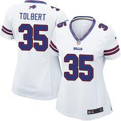 5baa283cf Women s Nike Buffalo Bills  35 Mike Tolbert Game White NFL Jersey Junior  Seau
