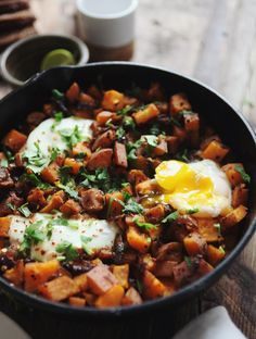 Sweet Potato Skillet Hash // My New Roots