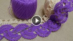 Two Color Crochet Lace Border Pattern