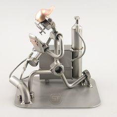 Metal Artwork - Welder Statue- Steelman