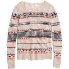 MADEWELL Fair Isle Striped Sweater