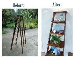 diy bookshelf ideas   DIY Ladder Bookshelves / crochet ideas and tips - Juxtapost