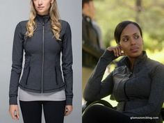 Olivia went jogging with Jake — and was confronted by Cyrus wearing a Lululemon forme jacket: