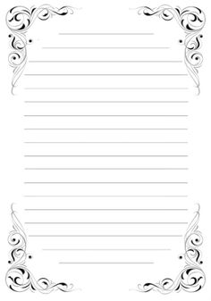 It is a picture of Effortless Free Printable Stationary With Lines and Borders