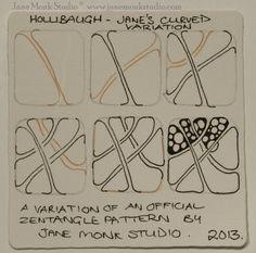 Hollibaugh~Curved~Zentangle
