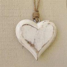 White Wooden Heart