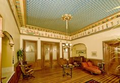 Egyptian Revival music room - Armour-Stiner (Octagon) House