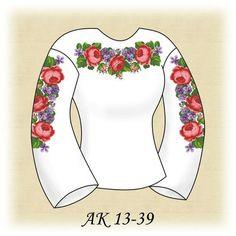 Заготовка к вышиванке женской Розы с фиалками АК 13-39 Д