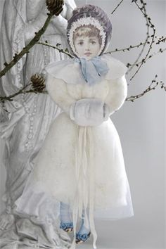 victorian Christmas - The image links to photo only, but it seems pretty straightforward: embellish a scrap cutout with batting, lace, muslin, etc. Christmas In Paris, Pink Christmas, Christmas Colors, Christmas Angels, Christmas Holidays, Christmas Crafts, Christmas Decorations, Xmas, Victorian Christmas Ornaments