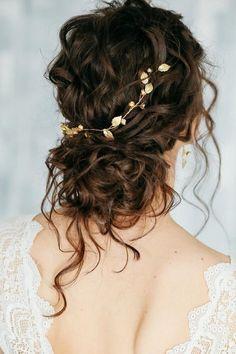 Gold bridal hair piece, Bridal pearl crystal hair comb, bridal hair accessories, Bridal Pearl Hair V - Wedding - Hair Accessories Bridal Hair Half Up, Bridal Hair Vine, Wedding Hair And Makeup, Bridal Comb, Wedding Veils, Bridal Headpieces, Wedding Garters, Bridal Hair Updo Loose, Romantic Bridal Hair