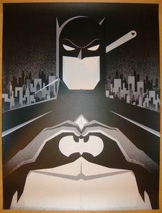 "2012 ""Batman"" - I Heart Gotham Silkscreen Art Print by Bruce Yan"