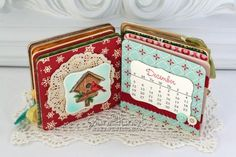4-inch chipboard coaster calendar instructions