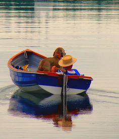 Man & Dog & Boat, Bremerton, Washington by Curtis Cronn, via Flickr