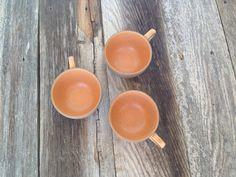 vintage Heath Ceramics Sandalwood Cup set / set of three
