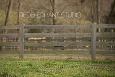 Set of 3 Fence Row from the Front Digital Backdrop / Digital