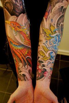 Résultats Google Recherche d'images correspondant à http://www.galleryoftattoosnow.com/EVILTWINSHEAVENLYTATTOOSTUDIOMEMBERS/images/gallery/medium/phoenix-sleeve-tattoo.jpg
